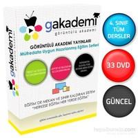 İlköğretim 4. Sınıf Tüm Dersler Görüntülü Eğitim Seti 33 DVD