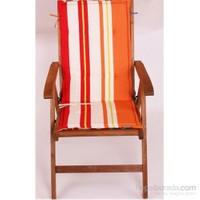 Yastıkminder Koton Çift Kademeli Oranj Çizgili Sandalye Minderi