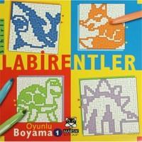 Labirentler 1 - Oyunlu Boyama-Kolektif
