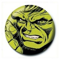 Pyramid International Rozet Marvel Retro Hulk Face