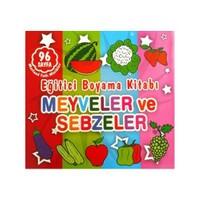 Eğitici Boyama Kitabı - Meyveler ve Sebzeler