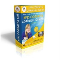 KPSS Coğrafya Görüntülü Eğitim Seti 10 DVD + Rehberlik Kitabı YENİ