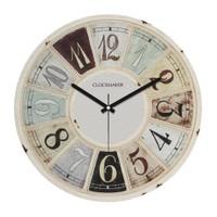 Clockmaker By Cadran Retro Vintage 30X30 Mdf Duvar Saati Cmm53