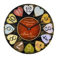 Clockmaker By Cadran Retro Vintage 30X30 Mdf Duvar Saati Cmm56