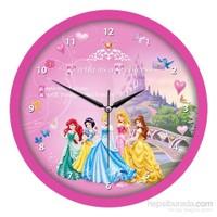 Disney Lisanslı Çocuk Odası Duvar Saati Prensesler