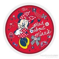 Disney Lisanslı Çocuk Odası Duvar Saati Mini Mouse
