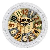 Cadran Dekoratif Vintage Çatlak Desen Duvar Saati Metalik Dilimler