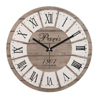 Clockmaker By Cadran Retro Vintage 30X30 Mdf Duvar Saati Cmm30