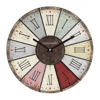 Clockmaker By Cadran Retro Vintage 30X30 Mdf Duvar Saati Cmm36