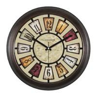 Clockmaker By Cadran Retro Vintage 30X30 Mdf Duvar Saati Cmm40