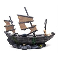 Dekoratif Akvaryum Aksesuarı Yelkenli Gemi