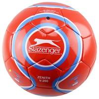 Slazenger Zenith V-200 Parlak Deri Dikişli 5 No Futbol Topu Kırmızı