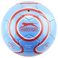 Slazenger Zenith V-200 Parlak Deri Dikişli 5 No Futbol Topu Mavi