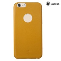 Baseus Thin Case (1mm) iPhone 6 Arka Kapak - Sarı (Suni Deri)