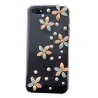 Resonare Apple iPhone 5 - 3D Mineli Pastel - Lady Line - Şeffaf Kapak