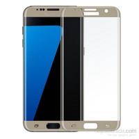 Lopard Samsung Galaxy S6 Edge Plus Gümüş 3D Kavisli Temperli Ekran Koruyucu