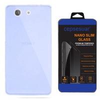 Cepsesuar Sony Xperia Z3 Compact Kılıf Silikon 0.2 Mm Mavi - Cam