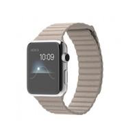 Apple Watch 42 Mm Paslanmaz Çelik Kasa Taş Rengi Deri Loop Mj432tu/A (Medium) Akıllı Saat