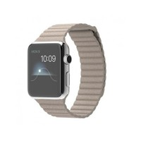 Apple Watch 42 Mm Paslanmaz Çelik Kasa Taş Rengi Deri Loop Mj442tu/A (Large) Akıllı Saat