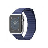 Apple Watch 42 Mm Paslanmaz Çelik Kasa Parlak Mavi Deri Loop Mj462tu/A (Large) Akıllı Saat