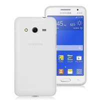 Microsonic Transparent Soft Samsung Galaxy Core 2 Kılıf Beyaz