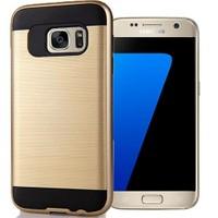 Coverzone Samsung Galaxy S7 Edge Kılıf Antişok Darbe Koruma Sert + Kavisli Jelatin
