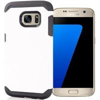 Coverzone Samsung Galaxy S7 Kılıf Slim Sert Koruma + Beyaz
