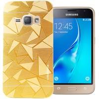 Coverzone Samsung Galaxy J7 216 Kılıf Motomo Prizma + Gold