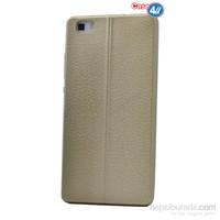 Case 4U Huawei P8 Lite Parlak Desenli Silikon Kılıf Altın