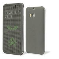 HTC One M8 Dot View Flip Case Gri Kılıf - 99H11415-00