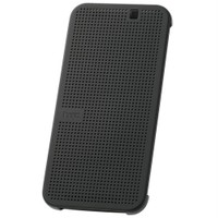 HTC One M9 Dot View Premium (Koyu Gri) Kılıf - 99H20070-00
