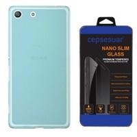 Cepsesuar Sony Xperia M5 Kılıf Silikon 0.2 Mm Mavi - Cam