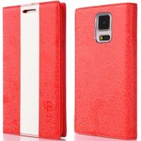 CoverZone Samsung Galaxy Note 3 Kılıf Duxal Standlı Deri Kapaklı Kırmızı