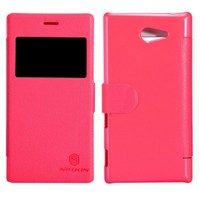 Nillkin Sony Xperia M2 Kılıf Fresh Kapaklı Pencereli Flip Cover Kırmızı