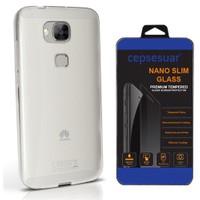 Cepsesuar Huawei G8 Kılıf Silikon 0.2 Mm Şeffaf - Cam