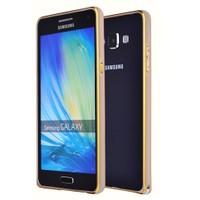 Microsonic Samsung Galaxy E5 Thin Metal Çerçeve Kılıf Altın Sarısı