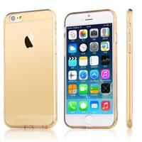 TotuDesign Apple iPhone 6S Plus Kılıf Gold Soft Series Transparant Thin