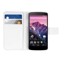 Microsonic Cüzdanlı Deri Kılıf - Lg Nexus 5 - Beyaz