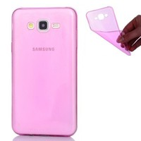 Coverzone Samsung Galaxy J3 Silikon 0.3Mm İnce Pembe