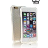 CaseCrown iPhone 6/6s Hasar Korumalı Ultra ince Silikon Kılıf + Nano Glass Ekran koruyucu