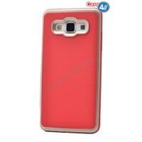 Case 4U Samsung Galaxy E5 Infinity Koruyucu Kapak Kırmızı/Altın