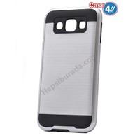 Case 4U Samsung Galaxy S3 Korumalı Kapak Gümüş