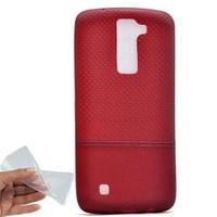 Teleplus Lg K8 Benekli Silikon Kılıf Kırmızı