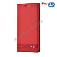 Case 4u Samsung Galaxy S7 Edge Gizli Mıknatıslı Kapaklı Kılıf Kırmızı