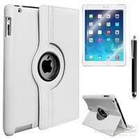 Exclusive Phone Case Exclusive Phone Case iPad 4 Retina Kılıf 360 Standlı Beyaz+Film+Kalem