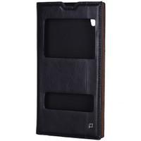 Cep Market Sony Xperia T3 Kılıf Pencereli Milano - Siyah