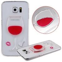 CoverZone Samsung Galaxy Grand Prime Kılıf Silikon Kadeh Model Kırmızı