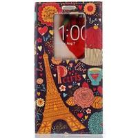 CoverZone Lg G2 Kılıf Akıllı Kapaklı Londra Paris In Love