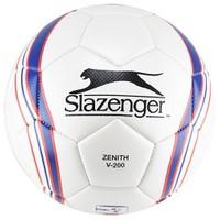Slazenger Zenith V-200 Mat Deri Dikişli 5 No Futbol Topu Beyaz