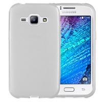 Microsonic Transparent Soft Samsung Galaxy J1 Kılıf Beyaz